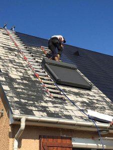 traitement hydrofuge sur une toiture à bayeux